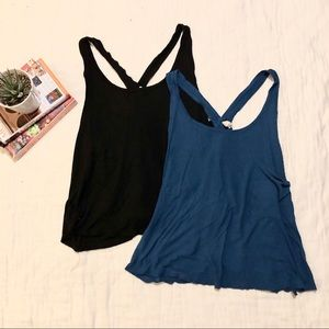 2 NWOT Free People ribbed tank tops